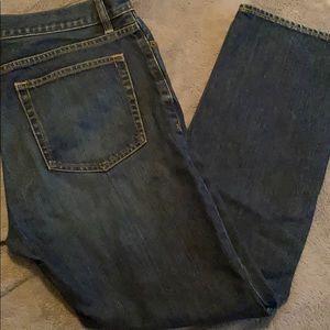 Vintage slim straight blue jeans